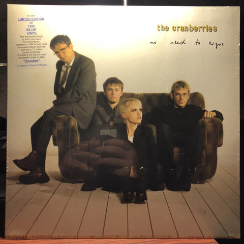 The Cranberries ‎– No Need To Argue : Plain Recordings ‎– plain202 : Vinyl, LP, Album, Limited Edition, Reissue, Blue