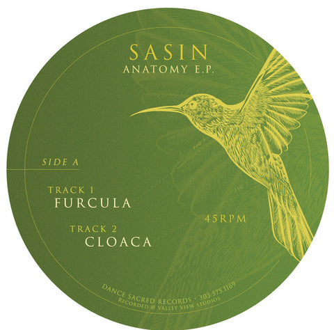 "Sasin ‎– Anatomy E.P. : Dance Sacred Records ‎– Jak 002, Dance Sacred Records ‎– Jak 002a : Vinyl, 12"", 45 RPM, EP, Limited Edition"
