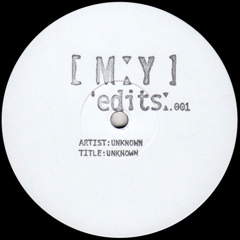 "Unknown Artist ‎– MYEDITS001 : Moxy Muzik Edits ‎– MYEDITS001 : Vinyl, 12"", 45 RPM, Single Sided, Limited Edition, White Label"