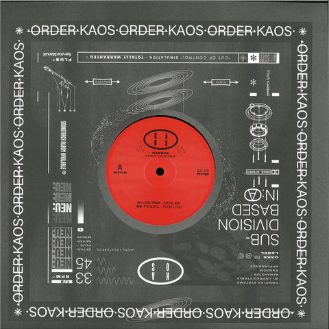 "Various ‎– Fear Enough : Kaos (6) ‎– KAOS05 : Vinyl, 12"", 33 ⅓ RPM, Compilation, Stereo"