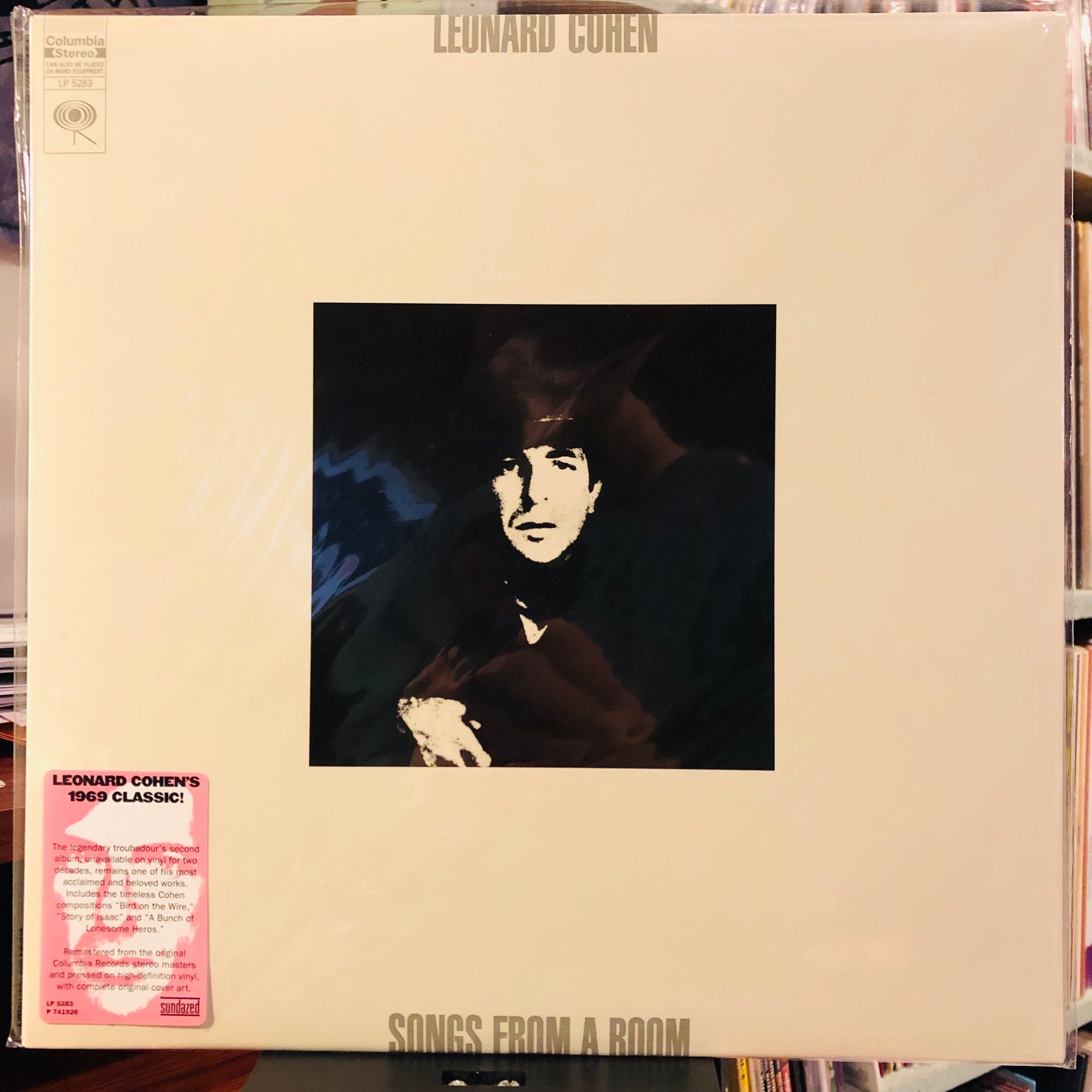 Leonard Cohen ‎– Songs From A Room : Columbia ‎– LP 5283, Sundazed Music ‎– LP 5283 : Vinyl, LP, Album, Reissue, Remastered