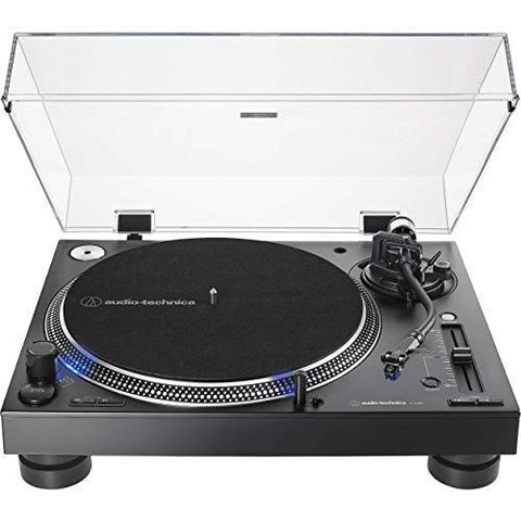 AT-LP140XP Direct-Drive Professional DJ Turntable with AT-XP3 Phono Cartridge and Stylus (Black) by Audio-Technica