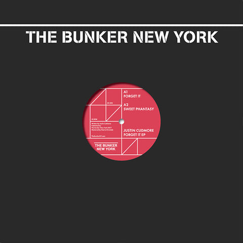 Justin Cudmore - Forget It EP - The Bunker New York BK022 - 12""