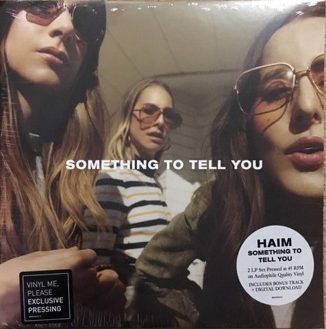 Haim ‎– Something To Tell You : Columbia ‎– 88985458041 : 2 × Vinyl, LP, 45 RPM, Album, Club Edition, Limited Edition, Numbered, Yellow/Gold