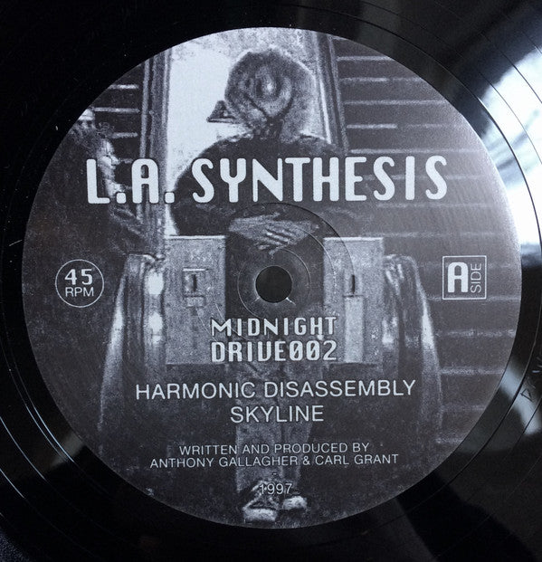 "LA Synthesis ‎– Harmonic Disassembly : Midnight Drive ‎– DRIVE002 : Vinyl, 12"", 45 RPM, Reissue"