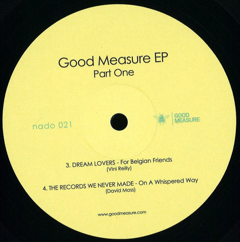 "Various ‎– Good Measure EP Part One : Aficionado Recordings ‎– nado 021 : Vinyl, 12"", EP"