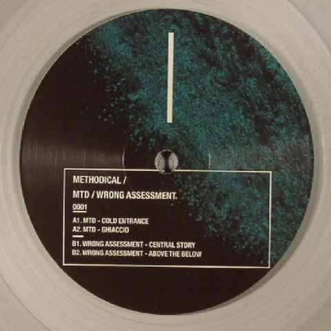 "MTD (2) / Wrong Assessment ‎– Cold Entrance : Methodical ‎– 0001 : Vinyl, 12"", Clear"