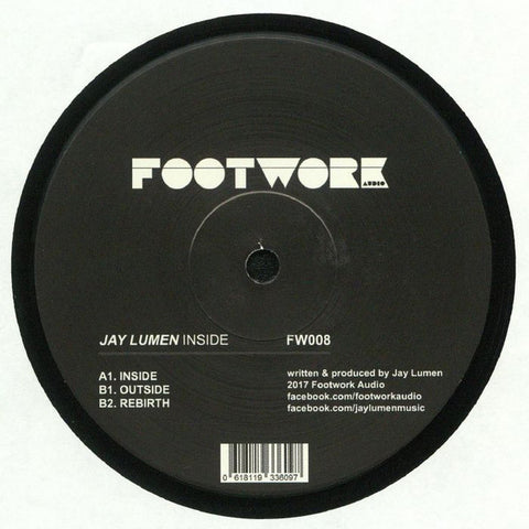 Jay Lumen ‎– Inside : Footwork Audio ‎– FW008 : Vinyl, 12""