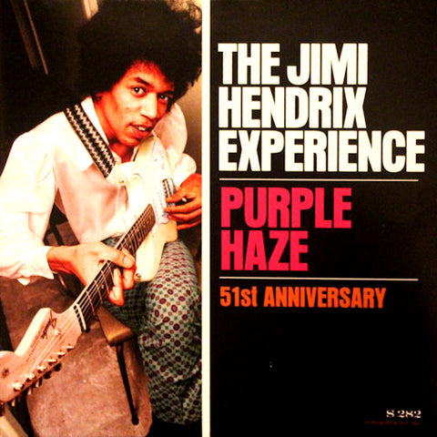 "The Jimi Hendrix Experience ‎– Purple Haze / 51st Anniversary : Experience Hendrix ‎– S282, Legacy ‎– S282, Sundazed Music ‎– S282 : Vinyl, 7"", 45 RPM, Single, Reissue, Mono, Purple"