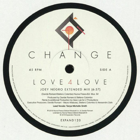 "Change ‎– Love 4 Love / Make Me (Go Crazy) : Expansion ‎– EXPAND120 : Vinyl, 12"", 45 RPM"