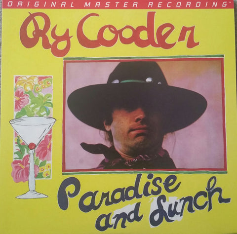 Ry Cooder ‎– Paradise And Lunch : Reprise Records ‎– MS 2179, Mobile Fidelity Sound Lab ‎– MFSL 1-449 Series: Original Master Recording – , GAIN 2™ Ultra Analog LP 180g Series – : Vinyl, LP, Album, Limited Edition, Numbered, Remastered, 180g