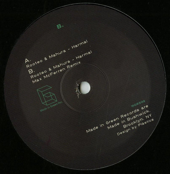 Rooteo & Mahura ‎– Metta Remixes II Label: Made In Green Records ‎– MGRX02 Format: Vinyl, 10""