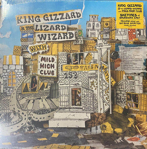 King Gizzard And The Lizard Wizard With Mild High Club ‎– Sketches Of Brunswick East : ATO Records ‎– ATO0410 : Vinyl, LP, Album, Limited Edition, Reissue, Yellow With Blue Splatter