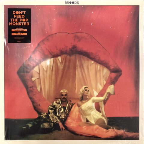 Broods ‎– Don't Feed The Pop Monster : Atlantic ‎– 585895-1, Neon Gold ‎– 585895-1 : Vinyl, LP, Album, Limited Edition, Orange