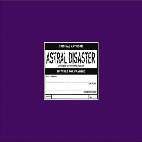 Coil ‎– Astral Disaster Sessions: Un/Finished Musics : Prescription (UK) ‎– DRUG 17 : Vinyl, LP, Limited Edition