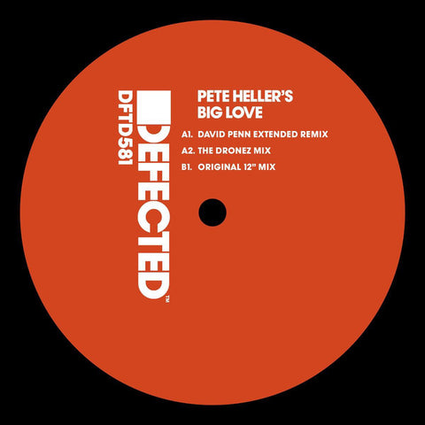 "Pete Heller ‎– Big Love Label: Defected ‎– DFTD581 Series: House Music All Life Long – Format: Vinyl, 12"", 33 ⅓ RPM, Reissue, Stereo"