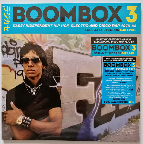 Various ‎– Boombox 3 (Early Independent Hip Hop, Electro And Disco Rap 1979-83) : Soul Jazz Records ‎– SJR LP411 Series: Boombox (4) – 3 : 3 × Vinyl, LP, Compilation