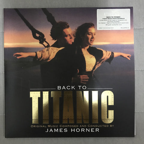 James Horner ‎– Back To Titanic (Music From The Motion Picture) : Music On Vinyl ‎– AMOVATM 175CLR, Sony Classical ‎– AMOVATM 175CLR : 2 × Vinyl, LP, Limited Edition, Numbered, 180 gram, Gatefold, 500 Copies, Crystal Clear