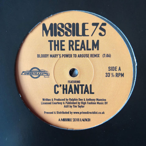 "C'hantal ‎– The Realm : Missile Records ‎– MISSILE 75 : Vinyl, 12"", 33 ⅓ RPM"