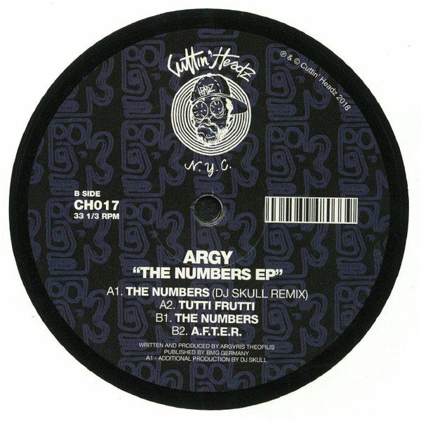 "Argy ‎– The Numbers EP : Cuttin' Headz ‎– CH017 : Vinyl, 12"", 33 ⅓ RPM, EP"