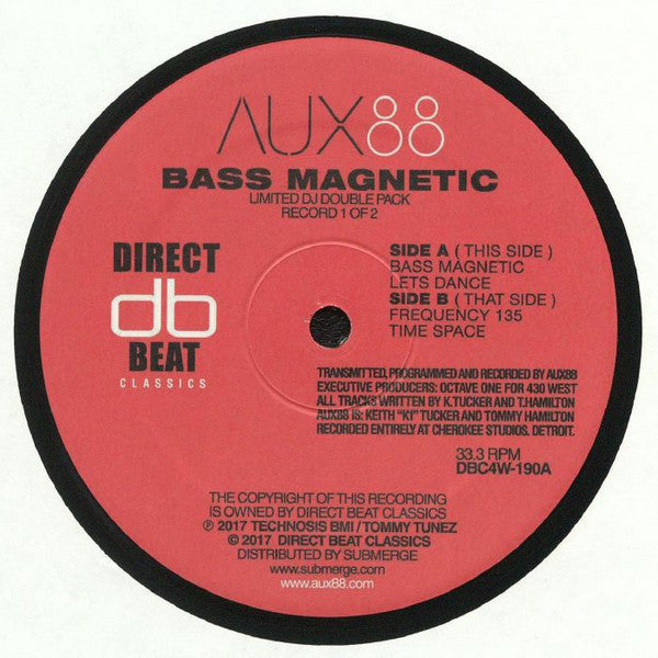 "Aux88* ‎– Bass Magnetic : Direct Beat ‎– DBC4W-190 : 2 × Vinyl, 12"", 33 ⅓ RPM, Limited Edition, Reissue"