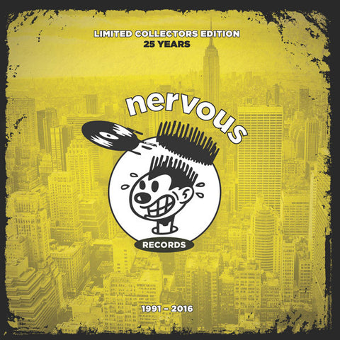 "Various ‎– Nervous 25th Anniversary : Nervous Records ‎– NER23988 : 2 × Vinyl, 12"", 33 ⅓ RPM, Compilation, Limited Edition, Yellow"