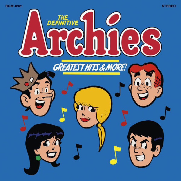 Archies* ‎– The Definitive Archies - Greatest Hits & More : Real Gone Music ‎– RGM-0921 : Vinyl, LP, Compilation, Limited Edition, Opaque Blue