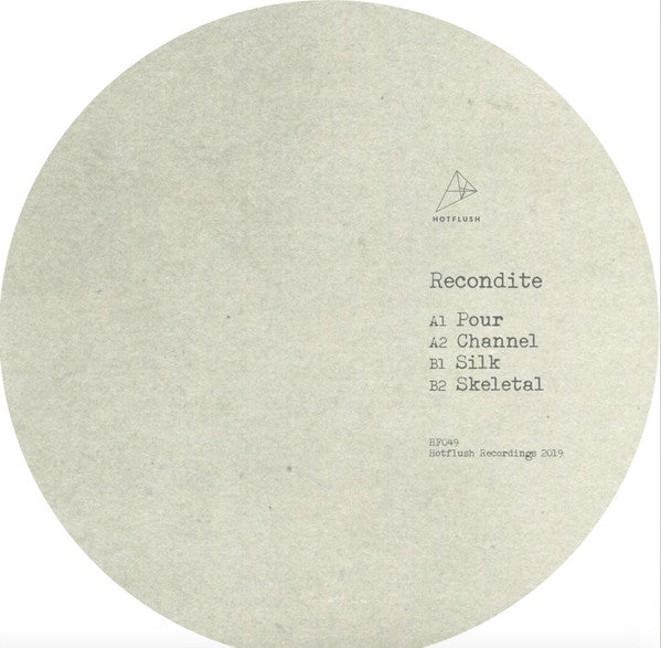 Recondite ‎– Silk : Hotflush Recordings ‎– HF049 : Vinyl, 12""