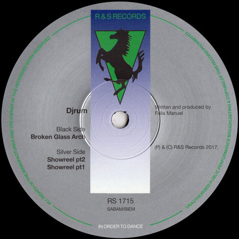 "Djrum* ‎– Broken Glass Arch : R & S Records ‎– RS 1715 : Vinyl, 12"", 33 ⅓ RPM"