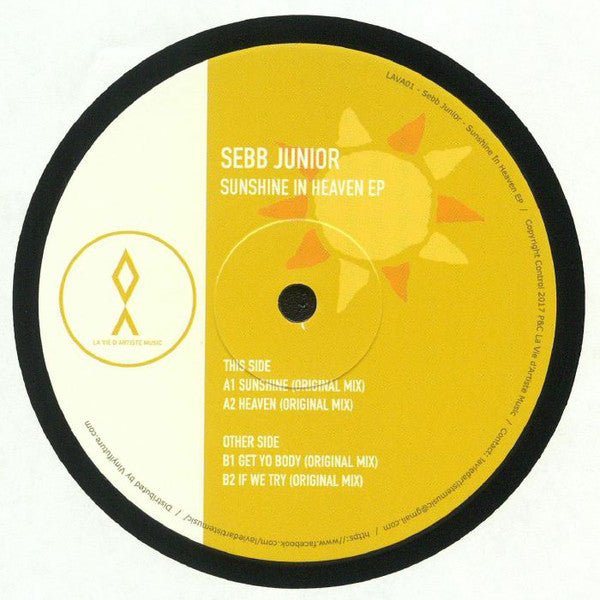 "Sebb Junior ‎– Sunshine In Heaven EP : La Vie D'Artiste Music ‎– LAVA001 : Vinyl, 12"", 33 ⅓ RPM, EP"