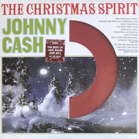 Johnny Cash ‎– The Christmas Spirit : DOL ‎– DOS750MB : Vinyl, LP, Album, Reissue, Red