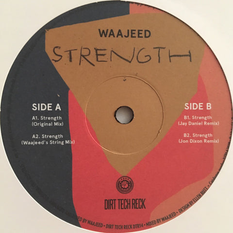 "Waajeed ‎– Strength : Dirt Tech Reck ‎– DTR14 : Vinyl, 12"", 33 ⅓ RPM"