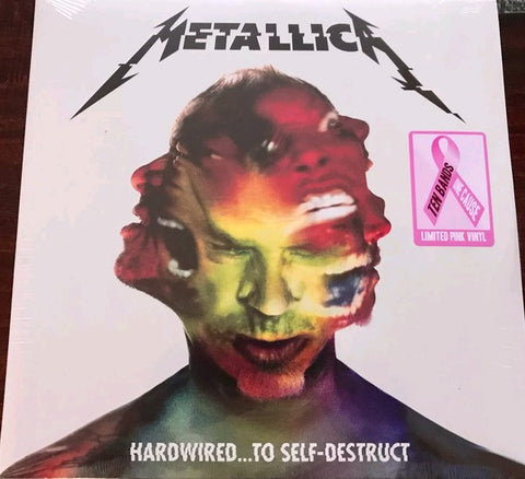 Metallica ‎– Hardwired...To Self-Destruct : Blackened Recordings ‎– BLCKND031-1 Series: Ten Bands One Cause – : 2 × Vinyl, LP, Album, Limited Edition, Reissue, Pink Marbled