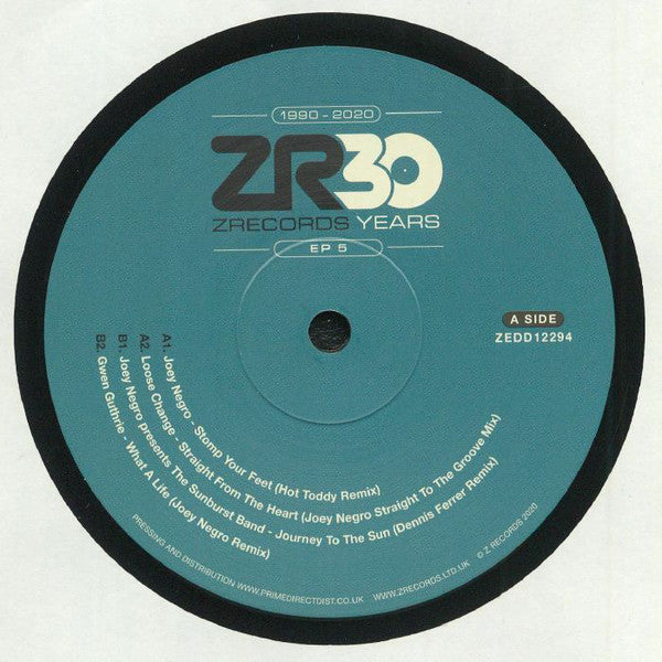 "Various ‎– 30 Years Of Z Records EP 5 : Z Records ‎– ZEDD12294 Series: 30 Years Of Z Records – 5 : Vinyl, 12"", 33 ⅓ RPM, EP"
