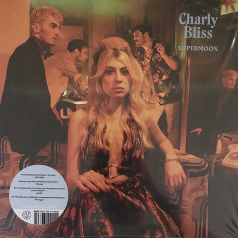 "Charly Bliss ‎– Supermoon : Barsuk Records ‎– BARK192LP : Vinyl, 12"", EP, Clear with light blue blob"