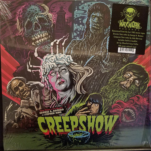 John Harrison ‎– Creepshow : Waxwork Records ‎– WW004 : Vinyl, LP, Album, Remastered, Repress, Red with Blue Smoke (Kill-Lights)