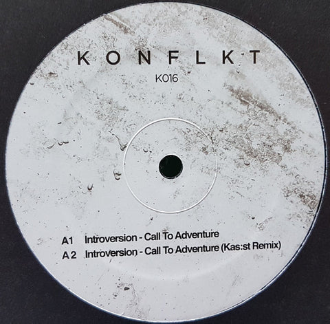 "Introversion (3) ‎– Call To Adventure : KONFLKT ‎– K016 : Vinyl, 12"", 33 ⅓ RPM, EP"