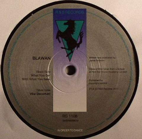 "Blawan ‎– What You Do With What You Have : R & S Records ‎– RS 1108 : Vinyl, 12"", 45 RPM"