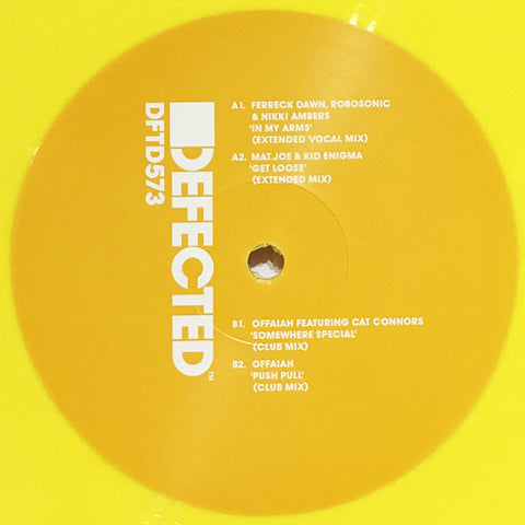 "Various ‎– Sampler EP 5 : Defected ‎– DFTD573 Series: House Music All Life Long – : Vinyl, 12"", 33 ⅓ RPM, EP, Repress, Yellow"
