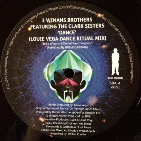 3 Winans Brothers Featuring The Clark Sisters ‎– Dance : Vega Records ‎– VR150 : Vinyl, 12""