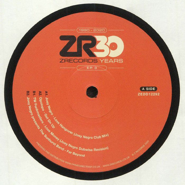 "Various ‎– 30 Years Of Z Records EP 3 : Z Records ‎– ZEDD12292 Series: 30 Years Of Z Records – 3 : Vinyl, 12"", 33 ⅓ RPM, EP"