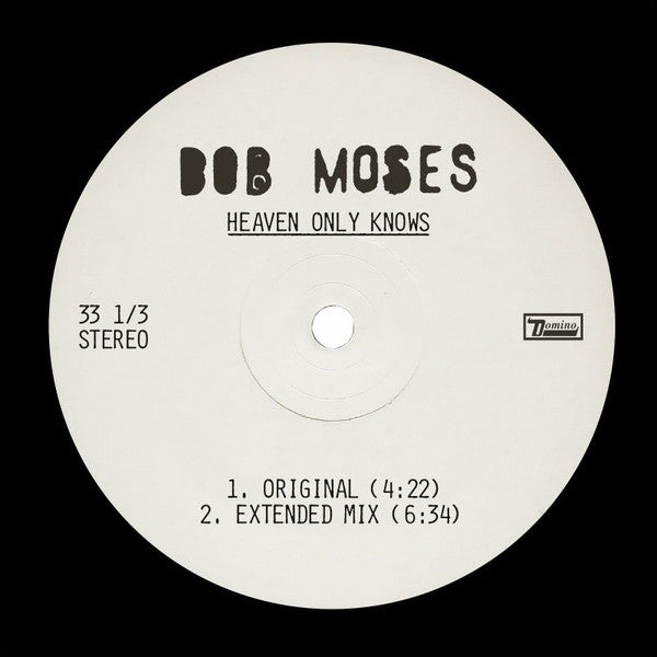 "Bob Moses (5) ‎– Heaven Only Knows : Domino ‎– RUG940T : Vinyl, 12"", 33 ⅓ RPM, Limited Edition"