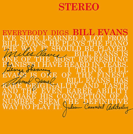 Bill Evans Trio* ‎– Everybody Digs Bill Evans : DOL ‎– DOL727H : Vinyl, LP, Album, Reissue, Stereo, 180 Gram