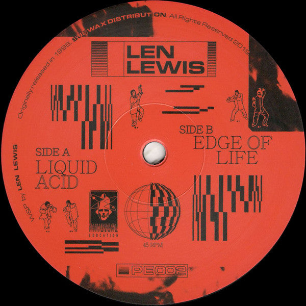 "Len Lewis ‎– Liquid Acid / Edge Of Life : Physical Education ‎– PE002 : Vinyl, 12"", 45 RPM, EP, Reissue, Remastered"