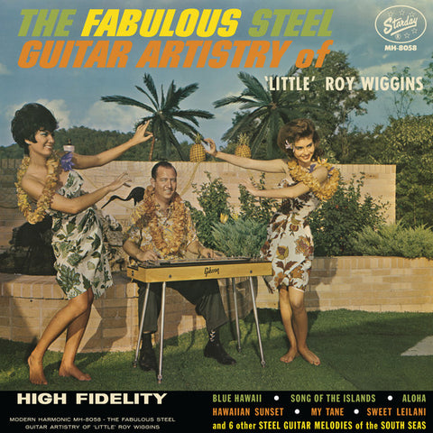 Little Roy Wiggins ‎– The Fabulous Steel Guitar Artistry Of : Modern Harmonic ‎– MH-8058 : Vinyl, LP, Album, Reissue, Mono, White Vinyl