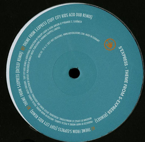 S'Express ‎– Theme From S'Express : Hot Creations ‎HOTC101 : Vinyl, 12""