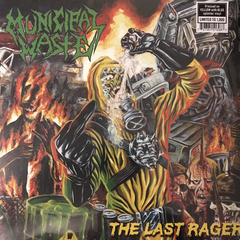 "Municipal Waste ‎– The Last Rager : Nuclear Blast ‎– NB 5169, Nuclear Blast ‎– 5169 : Vinyl, 12"", 45 RPM, EP, Limited Edition, Yellow With Blue Splatter"