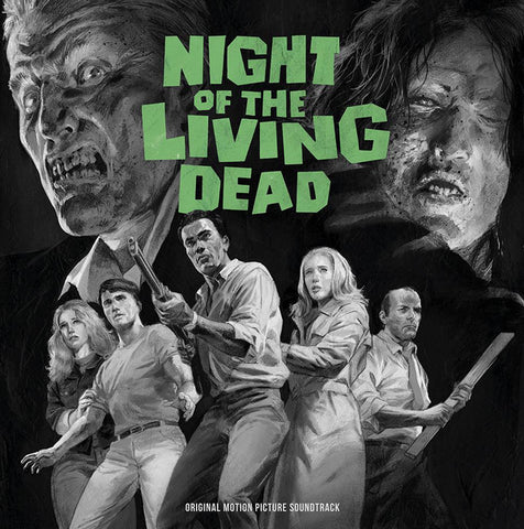 "Unknown Artist ‎– Night Of The Living Dead (Original Motion Picture Soundtrack) : Waxwork Records ‎– WW050 : 2 × Vinyl, 12"", 45 RPM, Limited Edition, Reissue, Remastered, Ghoul Green"