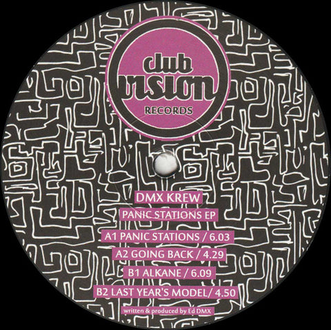 "DMX Krew ‎– Panic Stations EP : Club Vision Records ‎– CV05 : Vinyl, 12"", 33 ⅓ RPM, EP"