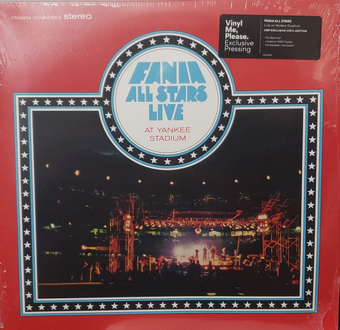 Fania All Stars ‎– Live At Yankee Stadium (Vol.1 & Vol.2) : Fania Records ‎– CR00234 Series: Vinyl Me, Please. Exclusive Pressing – : 2 × Vinyl, LP, Compilation, Club Edition, Numbered, Reissue, Remastered, Red